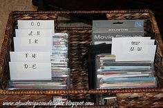 Organizing DVDs with movie sleeves