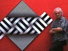 Omar Rayo. Evolucionó con sus cintas abstractas, composiciones geométricas y efectos visuales.