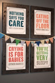 Great nursery wall decor. Could be neat if sized down to fit into an eclectic, framed wall collage