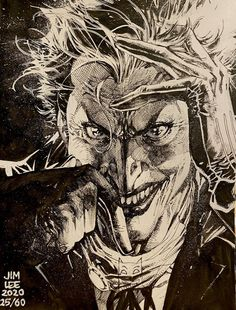Joker Dc Comics, Joker Comic, Arte Dc Comics, Marvel Comics, Jim Lee Batman, Comic Book Artists, Comic Artist, Comic Books Art, Superman New 52