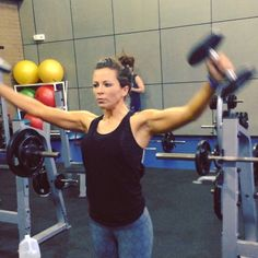 """""""Here's the shoulder bomb workout everyone has been asking for. It takes practice. Go up with your arms straight then come back down behind your back…"""" by Sarah Bowmar Senior Fitness, Fitness Tips, Fitness Motivation, Health Fitness, Best Weight Loss, Weight Loss Tips, Weight Lifting, Gym Workouts, At Home Workouts"""
