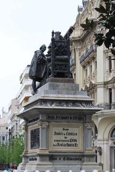Monumento Reyes Catolicos. Isabel y Cristóbal Colón