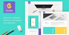 Galliope - Agency/Portfolio PSD Template by Templines Galliope is a beautiful, clean, minimal and modern portfolio PSD template. It is suitable for creative digital agencies, personal,