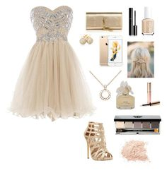 """Prom"" by krieschl2003 ❤ liked on Polyvore featuring Steve Madden, Yves Saint Laurent, Allurez, Loushelou, Chanel, Bobbi Brown Cosmetics, Essie, By Terry and Marc by Marc Jacobs"