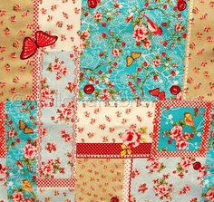 Blooms and Blossoms Patchwork in Spring - Dutch design fabric