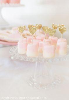 chocolate dipped marshmallows-SO EASY! #ballerinaparty