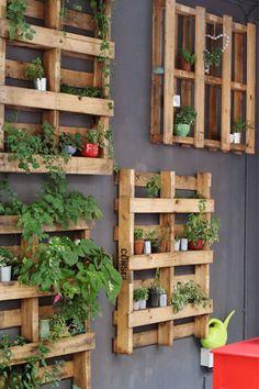 Crush Magazine - together. Pallet Garden Walls, Vertical Pallet Garden, Herb Garden Pallet, Vertical Gardens, Vegetable Garden, House Plants Decor, Plant Decor, Walled Garden, Backyard Garden Design