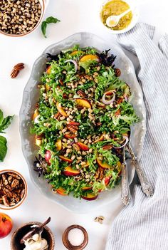 Add some tasty color to your plate with this Black-Eyed Pea Salad With Peaches, Pecans, and Lime recipe.