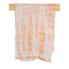 Light Orange Tie Dye Scarf