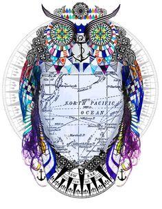 adveture owl Art Print