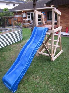 plans for building a platform for a diy slide