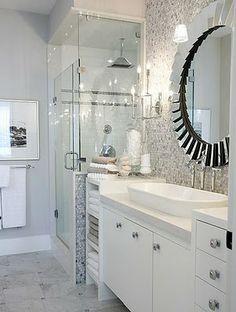 Sarah Richardson -love her designs - shower next to vanity