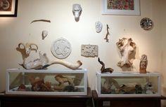 Piano terra/Bestiario con crani, corna, gessi, disegni e piccole sculture in terracotta di Varoli