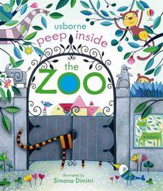 Peep inside the zoo - editura Usborne - carti in limba engleza pentru copii