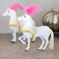 Cinderella's Magical Paper Coach Horses