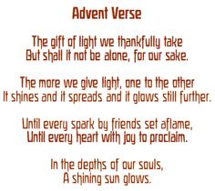 mp3 advent candle verse I light a candle on the wreath all made of ...