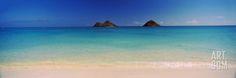 Islands in the Pacific Ocean, Lanikai Beach, Mokulua Islands, Oahu, Hawaii, USA Photographic Print by Panoramic Images at Art.com