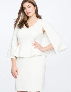 3ff649e05e9 View our V Neck Cape Dress and shop our selection of designer women s plus  size Dresses