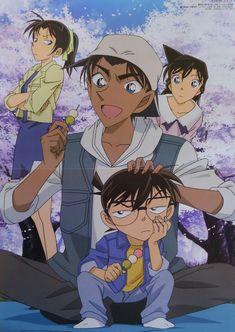 Detective Conan Ran, Kazuha, Heji and Conan Ran And Shinichi, Kudo Shinichi, Magic Kaito, Heiji Hattori, Manga Detective Conan, Otaku, Fangirl, Gosho Aoyama, Kaito Kid