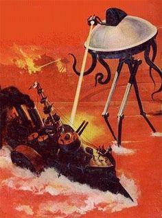 Martian Fighting Machine versus Thunderchild, The War of the Worlds.