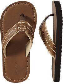 Boys Faux-Leather Sandals