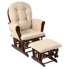Stork Craft Hoop Glider and Ottoman Set, Cherry/Beige --- http://bizz.mx/j42