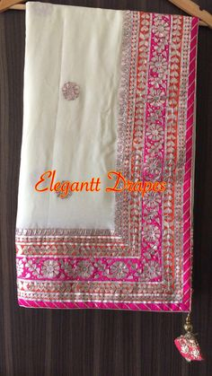 #saree #sari #sarees #love_yourself #onlineshopping #onlinebusiness #onlinemarketing #indianfashion  #indianwedding #indianwear #indianbride   #textile #indian #love_yourself #ethnic #embroidery Lace Saree, Bridal Silk Saree, Pakistani Bridal Wear, Saree Dress, Saree Blouse Patterns, Saree Blouse Designs, White Sari, Gota Patti Saree, Velvet Dress Designs