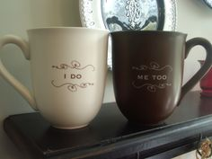 bridal shower gift baskets for the bride | these adorable mugs make the perfect bridal shower or wedding gift the ...