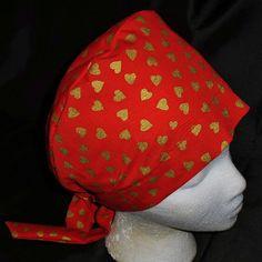 60793688b9a Etsy Nurses Scrubs Hats Women Pixie Tie Back by ScrubCapsAndStuff Gold Hats,  Scrub Caps,