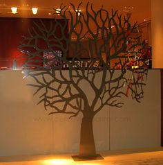 resimler/lazer kesim ağaç deseni vitrin dekoru