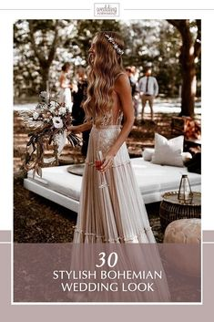 bohemian wedding look fashionable boho bride with long hair down simple crown long dress ayeh.kphotography weddings 24 Stylish Bohemian Wedding Look Wedding Looks, Dream Wedding, Wedding Day, Rustic Boho Wedding, Luxury Wedding, Wedding Table, Wedding Ceremony, Muse By Berta, Boho Wedding Hair