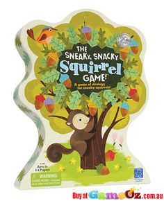 The+Sneaky+Snacky+Squirrel+Game+Educational+Insights  Players:+2-4  Contents:+1+set+of+squirrel+squeezers,+20+coloured+acorns,+4+logs,+1+game+spinner,+1+game+board+which+doubles+as+packaging.  This+is+a+great+game+to+help+develop+matching,+sorting,+hand+eye+coordination,+strategic+thinking+and+motor+skills…