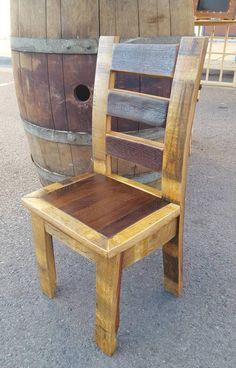 Chairs At Ashley Furniture Rustic Dining Chairs, Kitchen Table Chairs, Rustic Chair, Dining Table, Wine Barrel Chairs, Wine Barrels, Bourbon Barrel Furniture, Barris, Barrel Projects