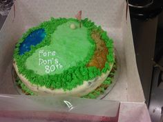 Awesome Golf #Icecream Cake made by Jess!