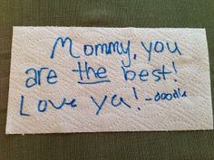 Inspire your kids or let them inspire you. Write a Napkin Note and share it using