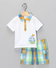 absorba Sailboat Polo & Shorts on #zulily! #cutiestyle