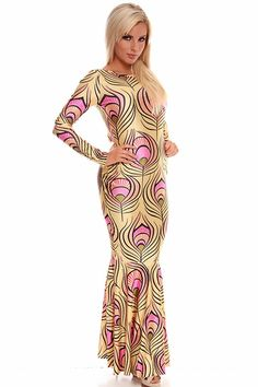 YELLOW PINK MULTI PRINT CUT OUT BACK LONG SLEEVE SCOOP NECK LONG LENGTH MAXI DRESS,Sexy Maxi Dresses-Sexi Maxi Dresses,Sexy Long Dresses,Chiffon Maxi Dress,Long Maxi Dresses,Long Sleeve Maxi Dress,White Maxi Dress,Floral Maxi Dresses,Sexy Black Maxi Dress,Mermaid Maxi Dress,Two Piece Maxi Dress,Off The Shoulder Maxi Dress