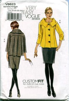 VOGUE SKIRT & JACKET Pattern Suit Pattern Very Easy Vogue 8623