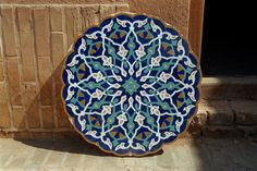 persian mosaic....beautiful for tabletop or stepping stones.