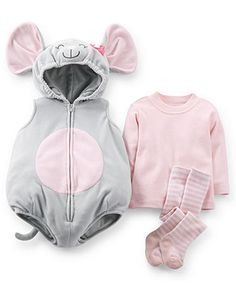 Carter's Baby Girls' 3-Piece Mouse Costume Set - Kids - Macy's, $19.99
