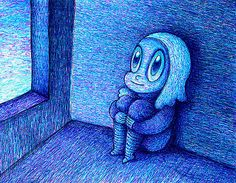 2D Ballpoint Pen Drawings Become Animated 3D Eye Candy    Drawings by Dain Fagerholm
