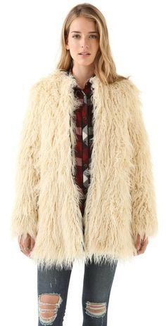 Shine Zulma Faux Fur Coat www.grabevery.com