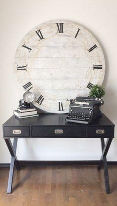 DIY wood clock / rustic / farmhouse / home decor