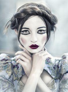 Porcelain doll make-up
