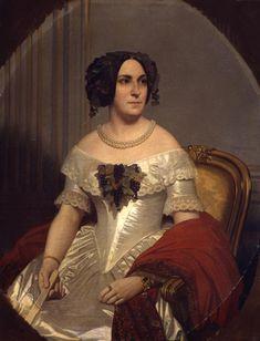 Amaury-Duval: Portrait Marie-Marguerite Foucher, marquise de Circé, sœur du peintre Léopold Burthe. 1842