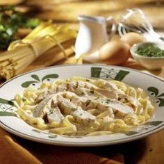 Olive Garden Chicken Alfredo.  I just made this and everyone loves it so go me