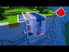 Minecraft Cliff Side Modern Redstone House You Building Blueprints