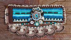 … Crochet Bracelet, Fingerless Gloves, Turquoise Bracelet, Needlework, Shabby Chic, Handmade Jewelry, Boho, Elegant, Knitting
