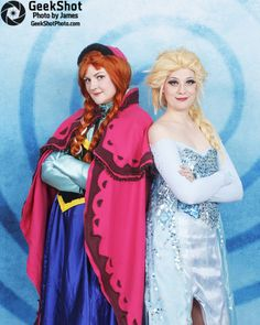 Frozen Anna and Elsa cosplay. Midwest Media Expo 2014.