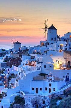 greece, santorini, sky